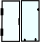 Shower door and panel style for bathroom doors and enclosure